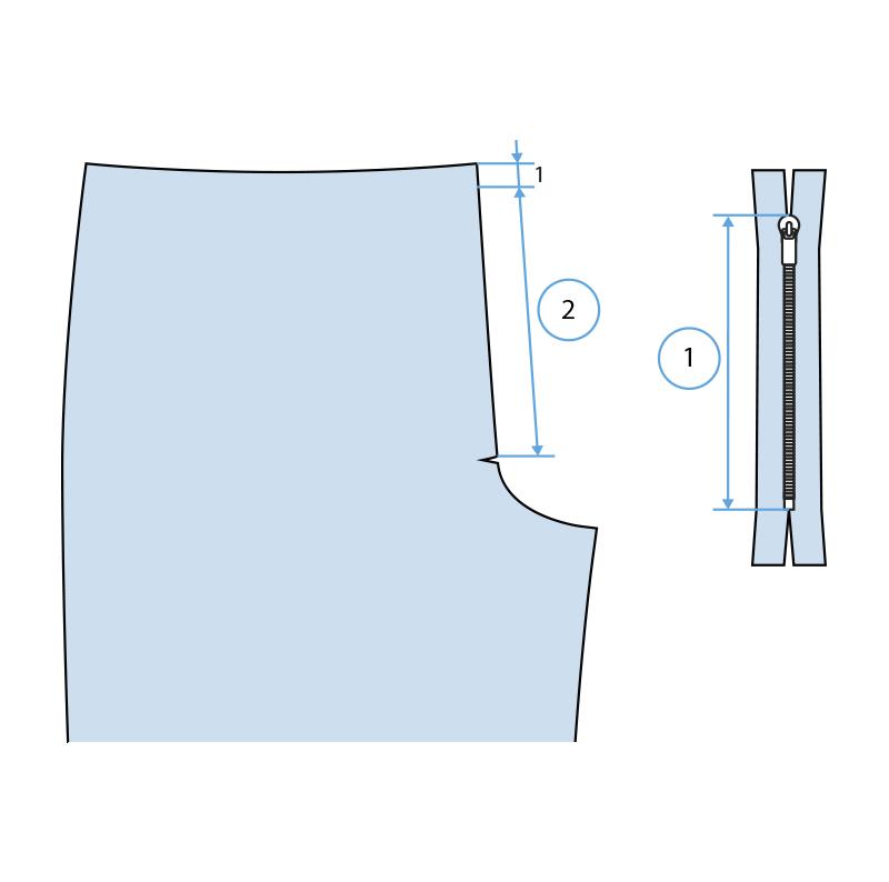 Cómo coser la bragueta de un pantalón paso 1