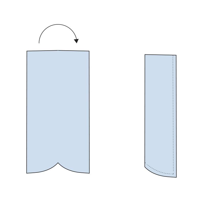 Cómo coser la bragueta de un pantalón paso 2