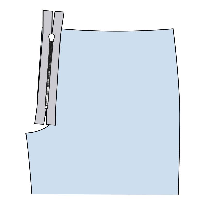 Cómo coser la bragueta de un pantalón paso 10
