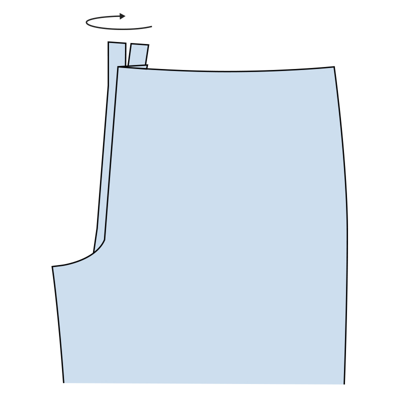Cómo coser la bragueta de un pantalón paso 11