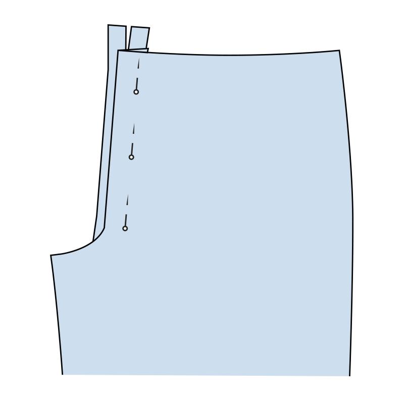 Cómo coser la bragueta de un pantalón paso 12
