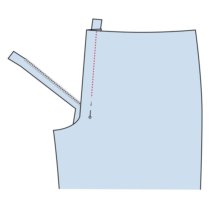 Cómo coser la bragueta de un pantalón paso 13