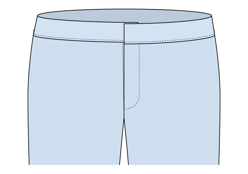Unir cinturilla al pantalón paso 7