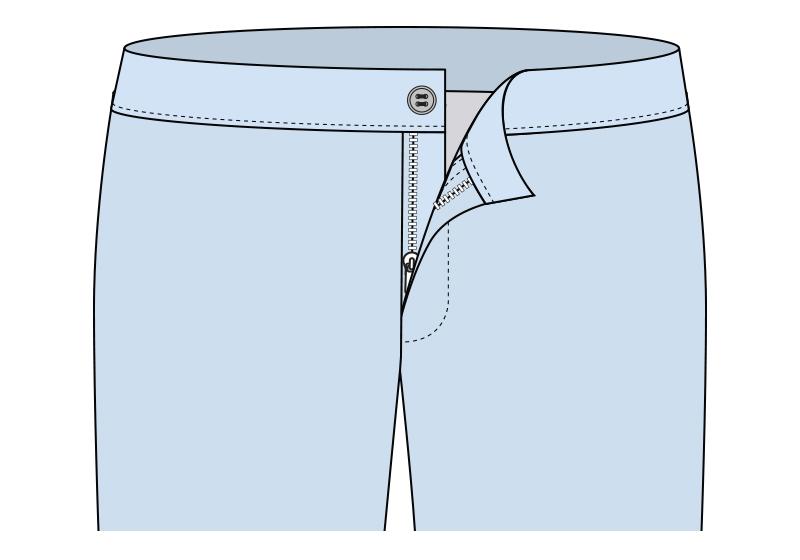 Botón en el pantalón