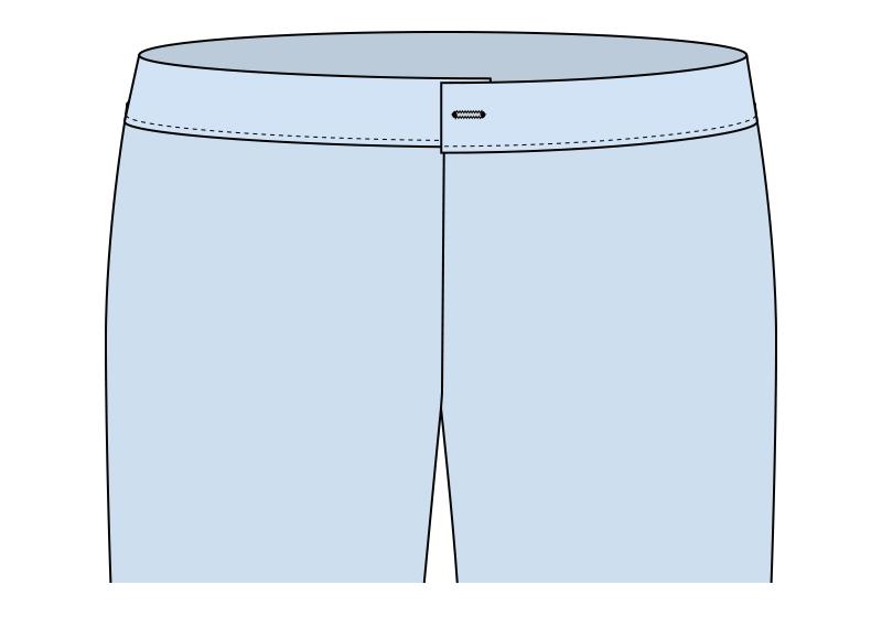 Ojal en el pantalón