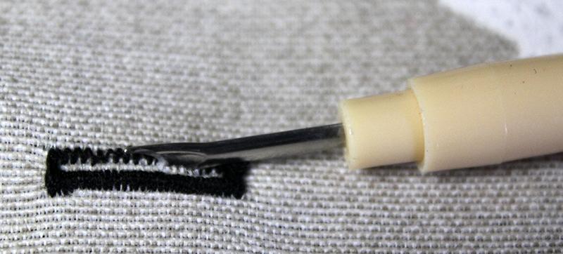 Cómo coser un ojal paso 9