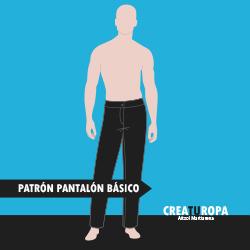 Curso de patronaje Pantalón básico de hombre